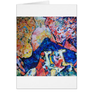 Wassily Kandinsky horse rider blue mountains Card