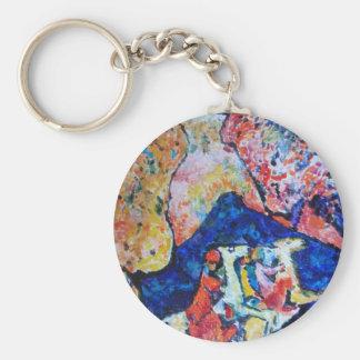 Wassily Kandinsky horse rider blue mountains Keychain