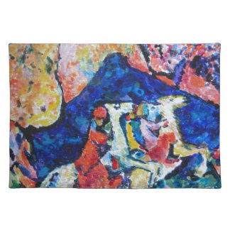 Wassily Kandinsky horse rider blue mountains Placemat