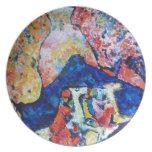 Wassily Kandinsky horse rider blue mountains Dinner Plates