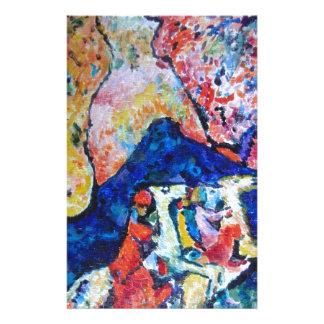 Wassily Kandinsky horse rider blue mountains Stationery