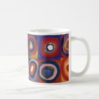 Wassily Kandinsky, jinete azul Taza Básica Blanca
