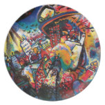 Wassily Kandinsky - Moscow Cityscape Abstract Art Dinner Plate