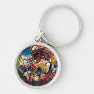 Wassily Kandinsky - Moscow Cityscape Abstract Art Keychain