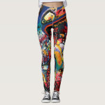 "Wassily Kandinsky - Moscow Cityscape Abstract Art Leggings<br><div class=""desc"">Wassily Kandinsky 1916 Moscow Cityscape</div>"
