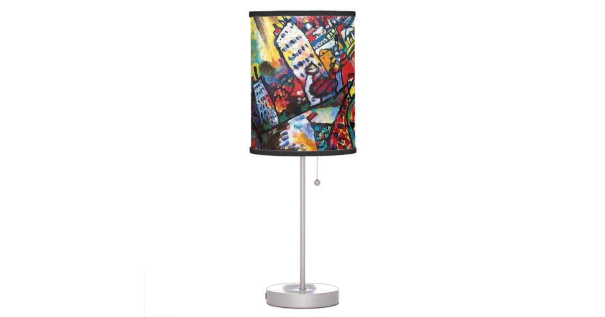 Wassily kandinsky moscow cityscape abstract art table for Table moscow