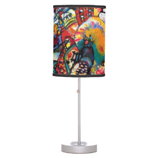 Wassily Kandinsky - Moscow Cityscape Abstract Art Table Lamp