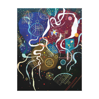 Wassily Kandinsky - Movement One Abstract Art Canvas Print