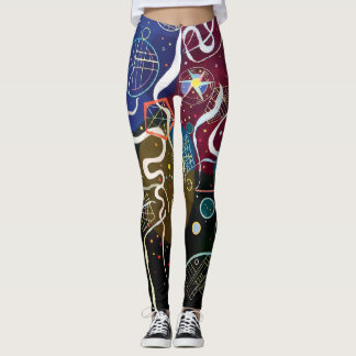 Wassily Kandinsky - Movement One Abstract Art Leggings