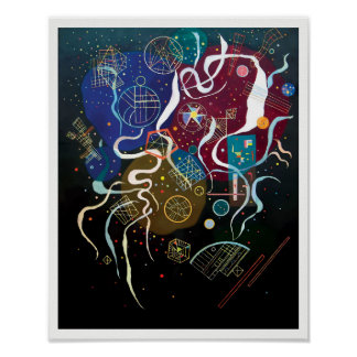 Wassily Kandinsky - Movement One Abstract Art Poster