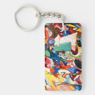 Wassily Kandinsky Rectangle Keychain