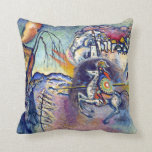 Wassily Kandinsky - Saint George and the Dragon Throw Pillow