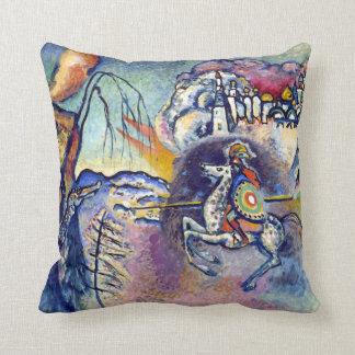 Wassily Kandinsky - Saint George & The Horsemen Throw Pillow