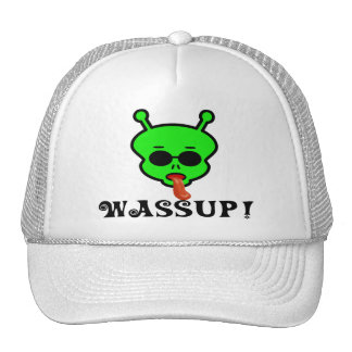 Wassup Space Alien Trucker Hat