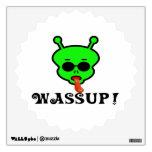 Wassup Space Alien Room Sticker