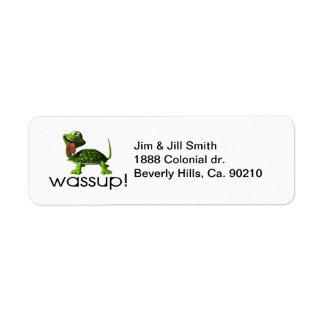 Wassup Turtle Label