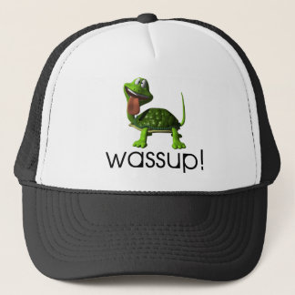 Wassup Turtle Trucker Hat