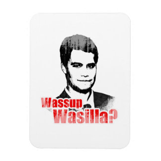 Wassup Wasilla Faded.png Rectangular Magnet