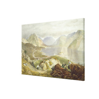 Wast Water, from 'The English Lake District', 1853 Canvas Print
