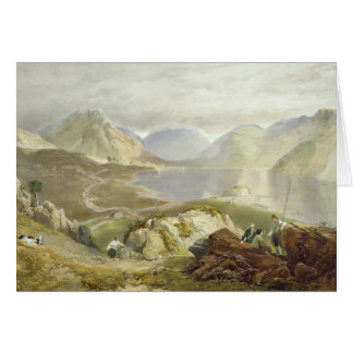 Wast Water, from 'The English Lake District', 1853 Card