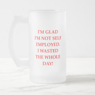 WASTE FROSTED GLASS BEER MUG