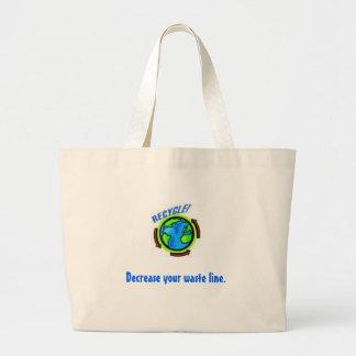 waste line. large tote bag