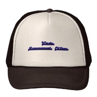 Waste Management Officer Classic Job Design Trucker Hat