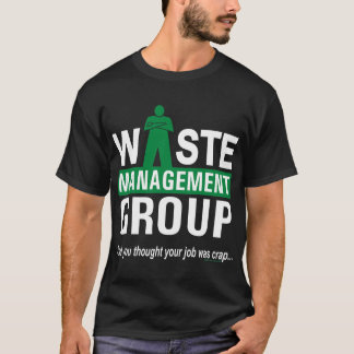 Waste Management on Black T-Shirt