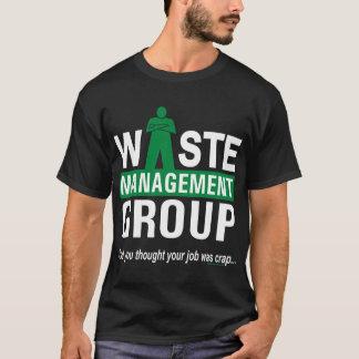 Waste Management on Black T-Shirt