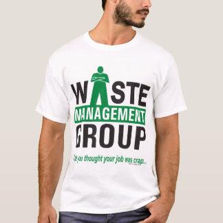 Waste Management on White T-Shirt
