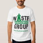 Waste Management on White Tee Shirts