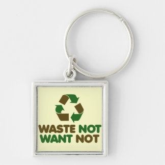 Waste not Want not Keychain