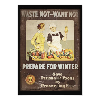Waste Not Want Not - Mother and Daughter Canning Card