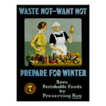 Waste Not - Want Not ~ Prepare for Winter Print