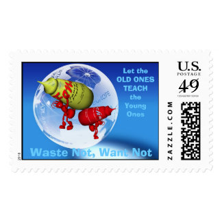 Waste Not, Want Not Stamp