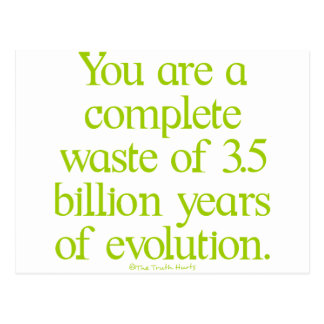 Waste of Evolution Postcard
