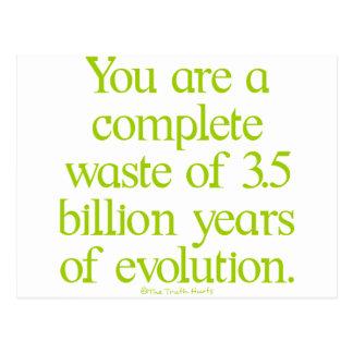 Waste of Evolution Postcard