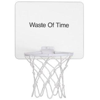 Waste Of Time.ai Mini Basketball Hoop