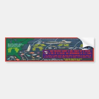 Waste Placard Bumper Sticker