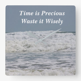 Waste Time Wisely Clock
