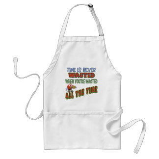 Wasted All The Time Beer T-shirts Gifts Adult Apron