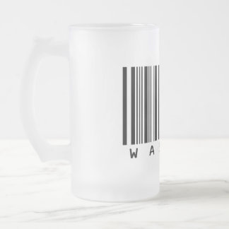 Wasted Frosted Glass Beer Mug