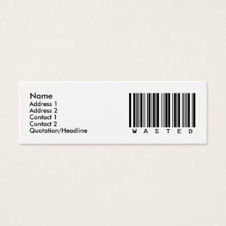 Wasted Mini Business Card