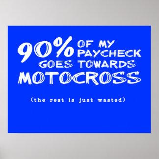 Wasted Money Dirt Bike Motocross Poster