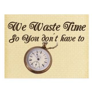 Wasted Time Postcard