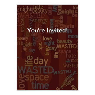Wasted Words Collage Card