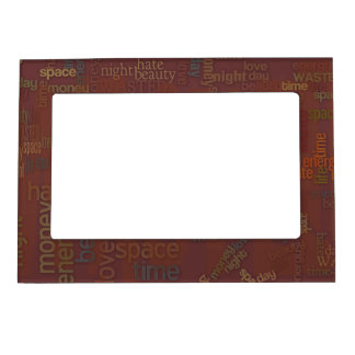 Wasted Words Collage Magnetic Photo Frame