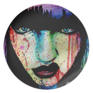 Wasted Youth - Pop Art Horror Portrait Dinner Plate