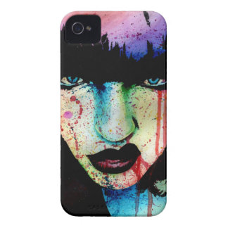 Wasted Youth - Punk Rock Rainbow Horror Portrait Case-Mate iPhone 4 Case