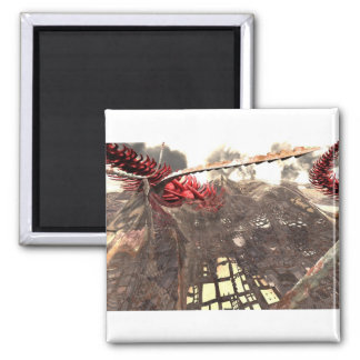 Wasteland 2 Inch Square Magnet